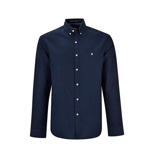پیراهن آستین بلند مردانه بادی اسپینر مدل 1255 کد 1 رنگ سرمه ای