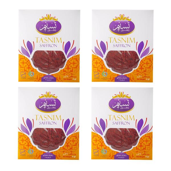 زعفران سرگل تسنیم - 4 گرم بسته 4 عددی