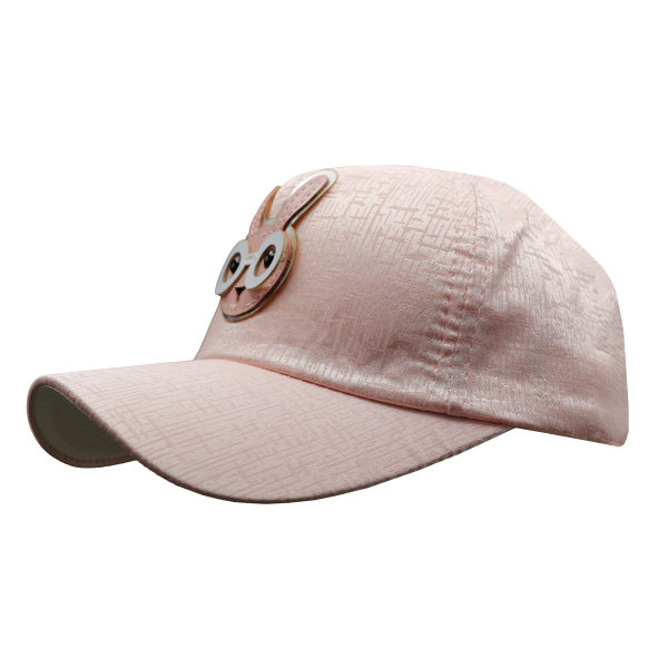 کلاه کپ بچگانه طرح خرگوش عینکی رنگ صورتی روشن