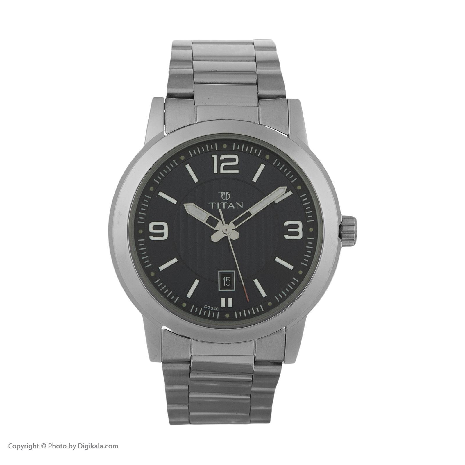 ساعت مچی عقربه ای مردانه تیتان مدل T1730SM03 -  - 2