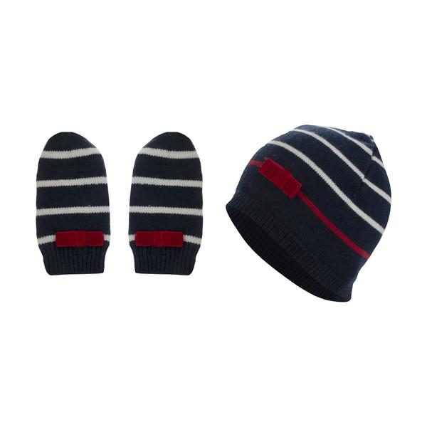 ست کلاه و دستکش بافتنی دخترانه دبنهامز مدل 2240201618