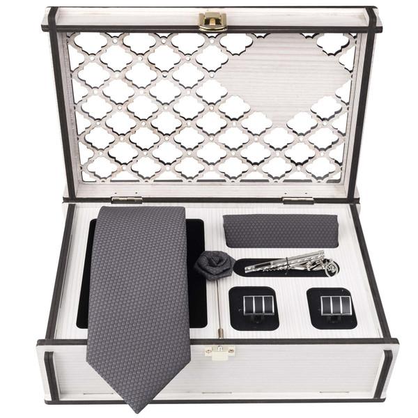 ست کراوات و دستمال جیب و دکمه سردست مردانه جیان فرانکو روسی مدل GF-PO1144-BOX