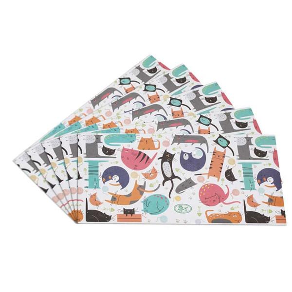 پاکت نامه انتشارات سیبان مدل Kitty بسته 5 عددی