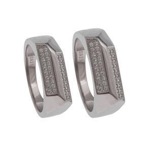 ست انگشتر نقره زنانه و مردانه کد 2432