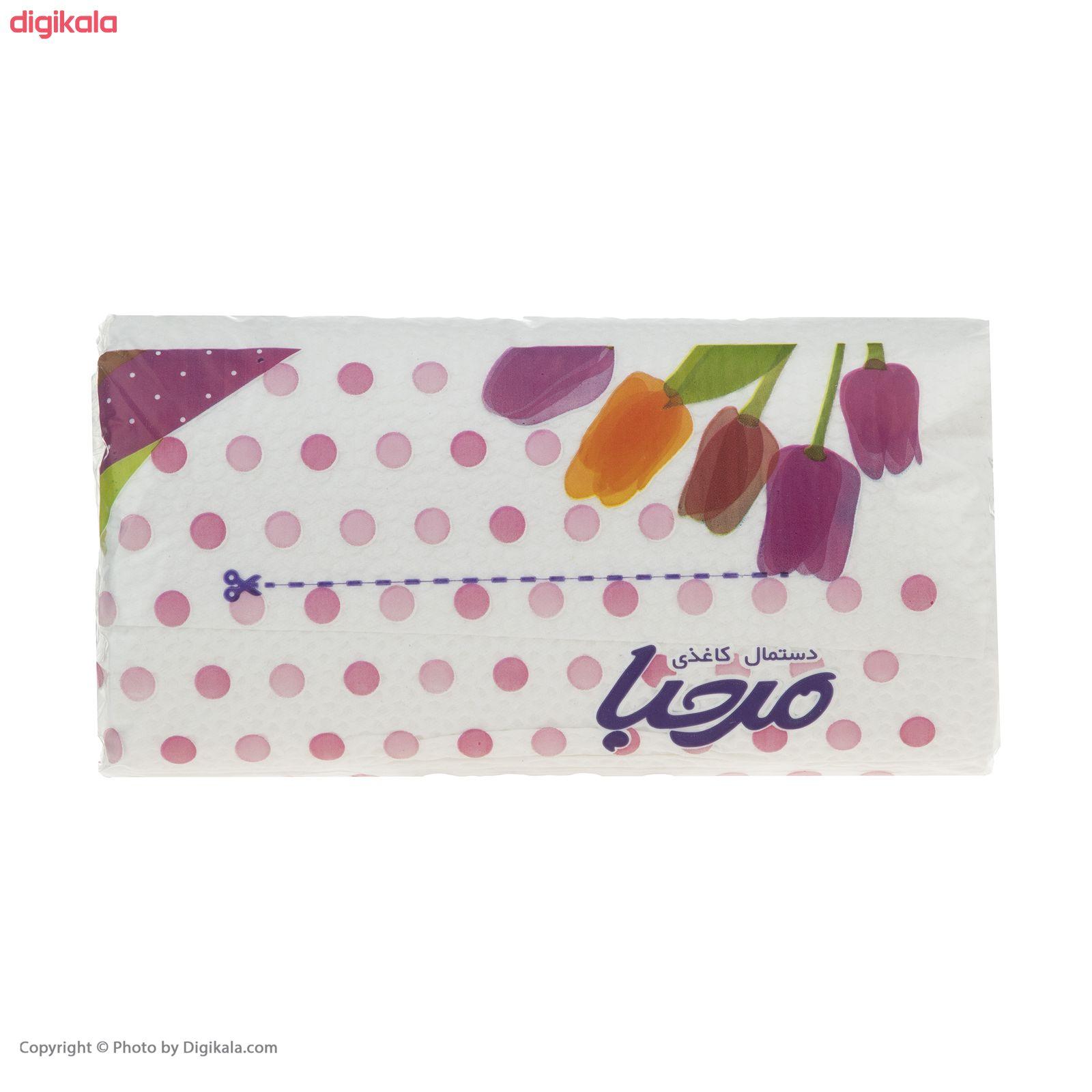 دستمال کاغذی 100 برگ مرحبا مدل Flower بسته 10 عددی main 1 10