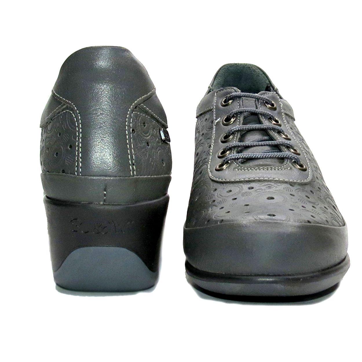 کفش روزمره زنانه آر اند دبلیو مدل 538 رنگ طوسی -  - 4