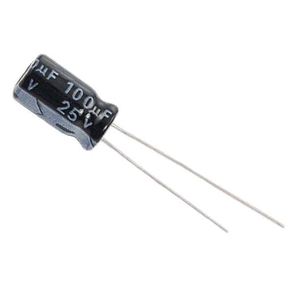 خازن الکترولیت 100 میکرو فاراد کد 125 بسته 4 عددی