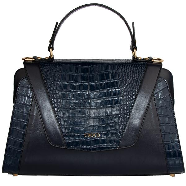 کیف دستی زنانه چرم کروکو مدل دونیکو