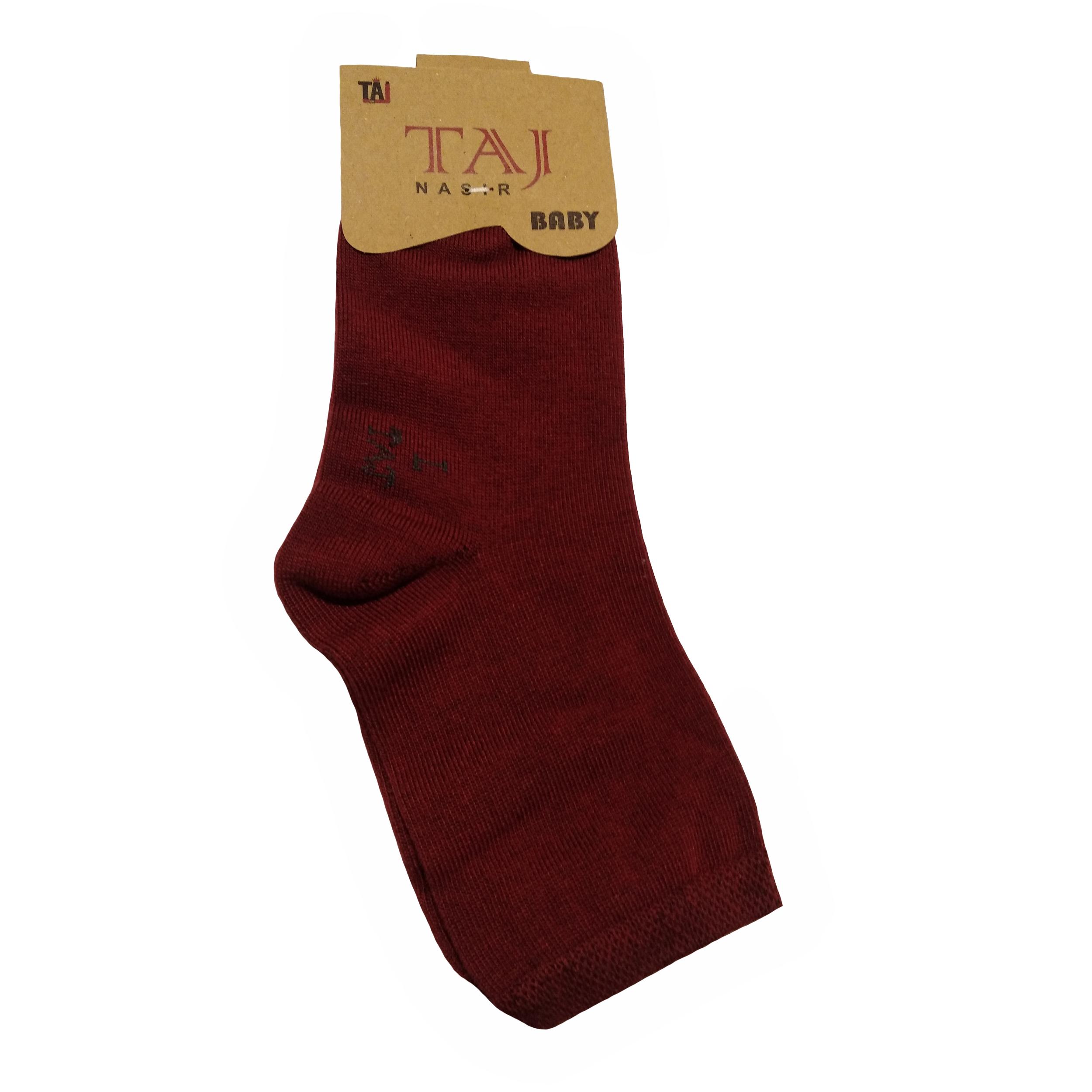 جوراب بچگانه تاج مدل P-1