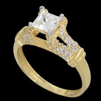 انگشتر طلا 18 عیار زنانه مدل 67130