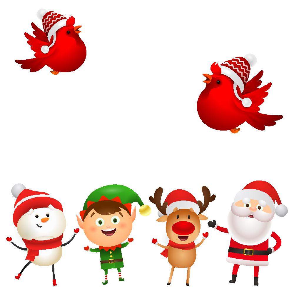 استیکر فراگراف کودک FG طرح بابانوئل کد 030