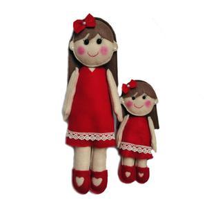 عروسک نمدی طرح مادر دختری کد 202