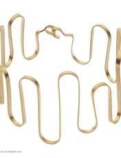 دستبند طلا زنانه سنجاق مدل x089886 -  - 2