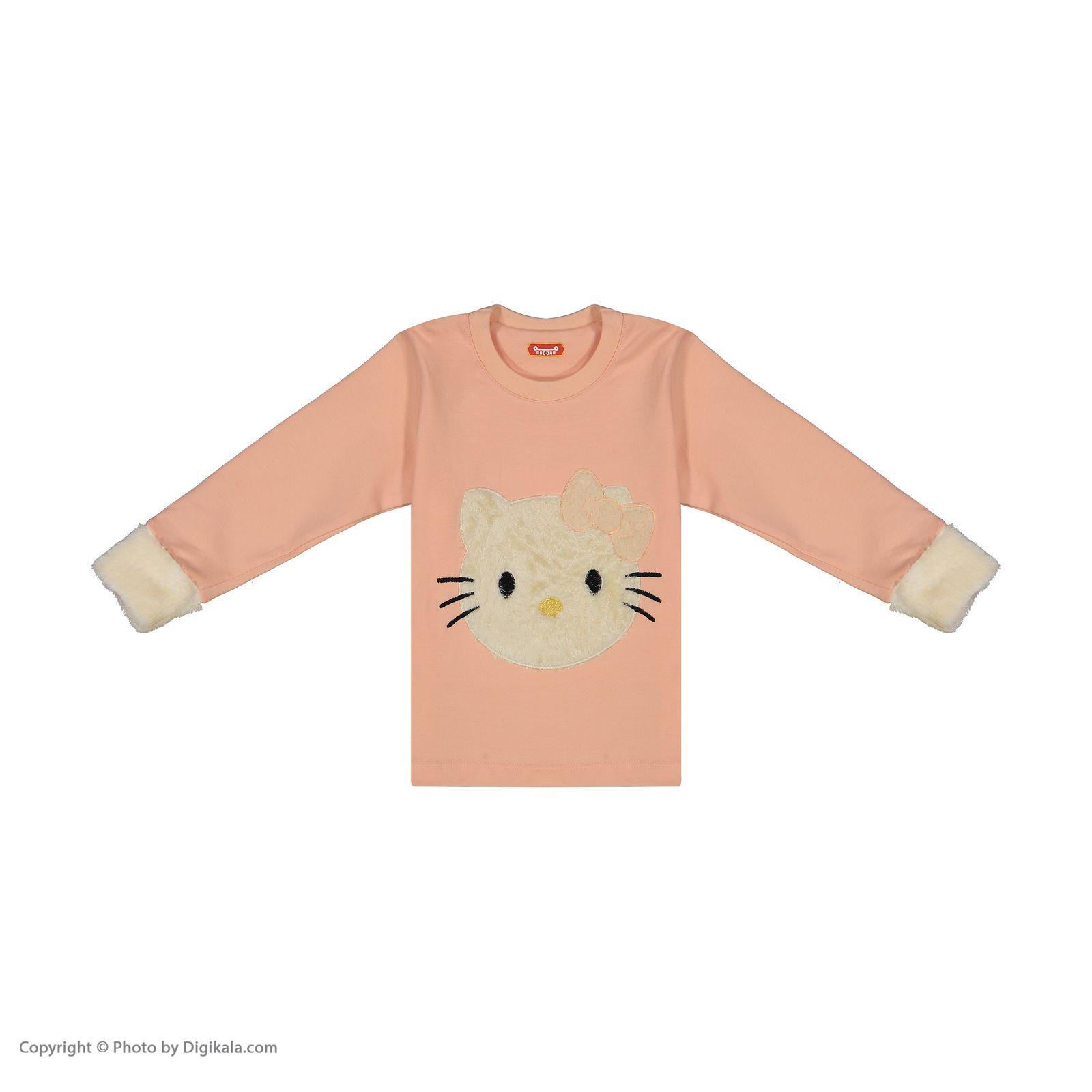 ست تی شرت و شلوار دخترانه مادر مدل 312-80 main 1 2