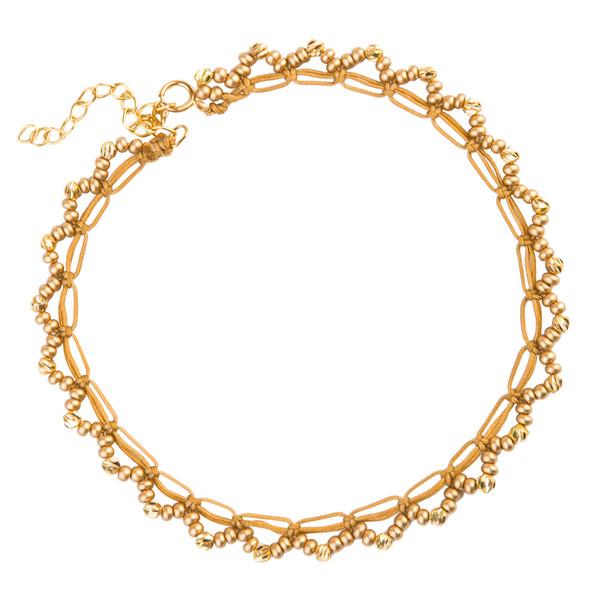 پابند طلا زنانه ریسه گالری مدل 2048