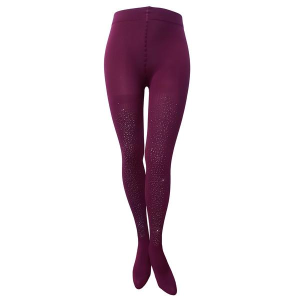 جوراب شلواری زنانه بالوکیشن مدل 0042 رنگ زرشکی