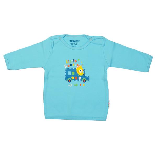 تی شرت آستین بلند نوزادی بی بی ناز طرح ماشین کد 004sb