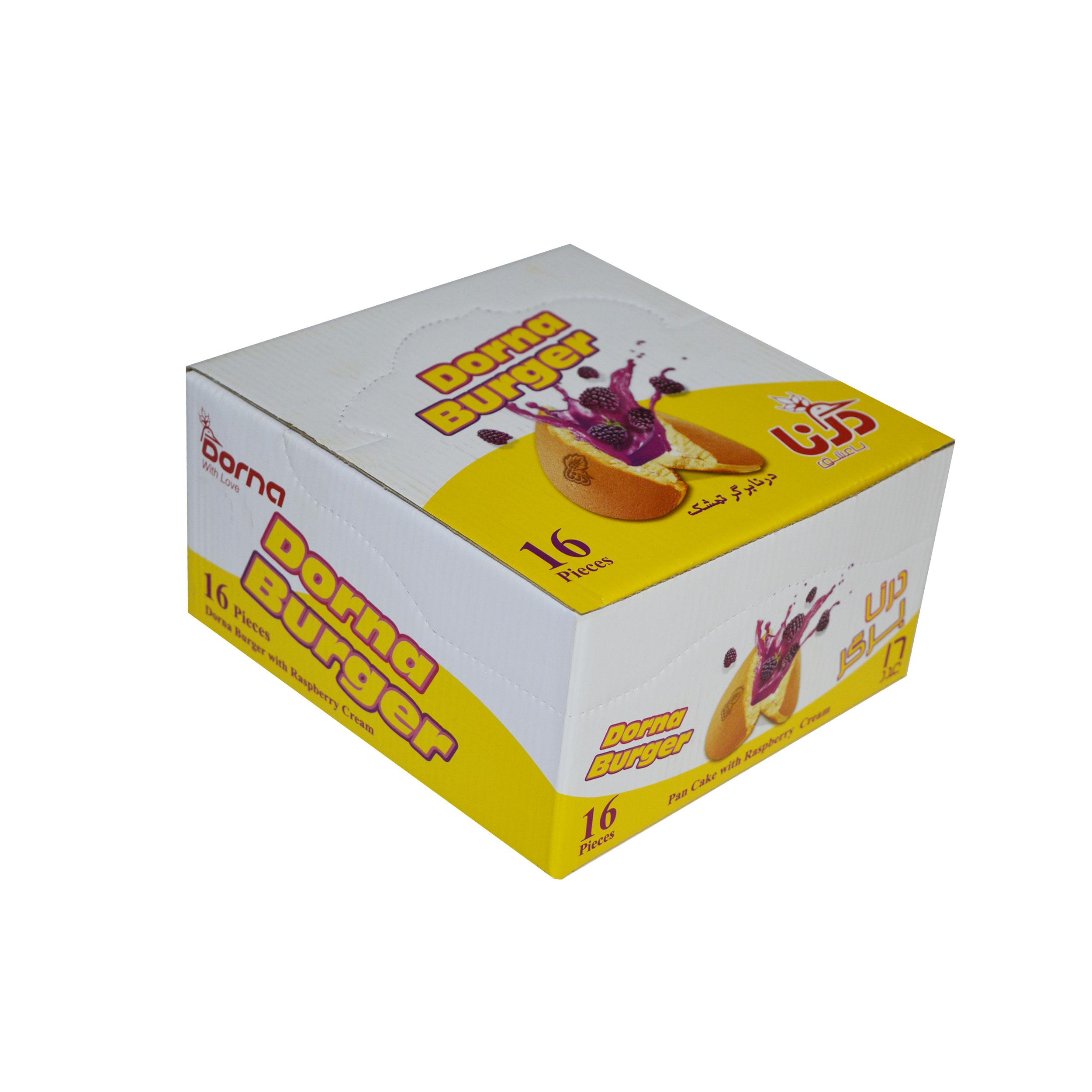 کیک درنابرگر تمشک درنا بسته 16 عددی