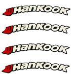 برچسب لاستیک خودرو مدل d3 طرح HankookR بسته چهار عددی
