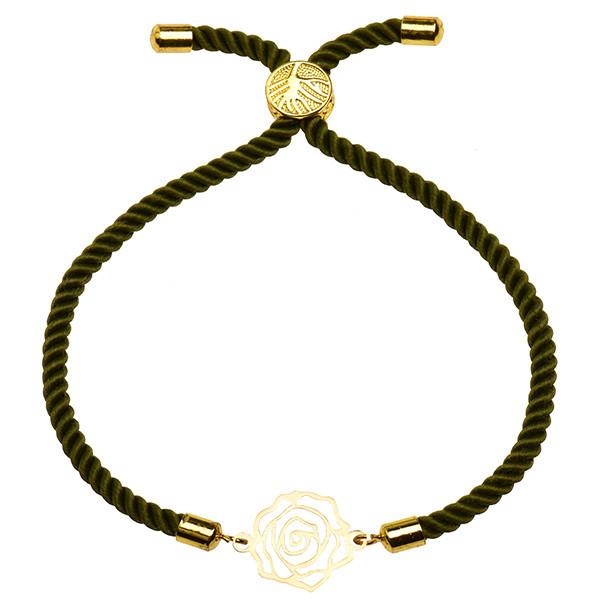 دستبند طلا 18 عیار دخترانه کرابو طرح گل رز مدل Krd1465