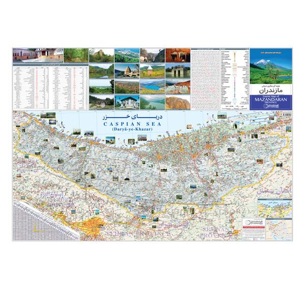 نقشه گردشگری استان مازندران گیتاشناسی نوین کد ۱۵۱۶