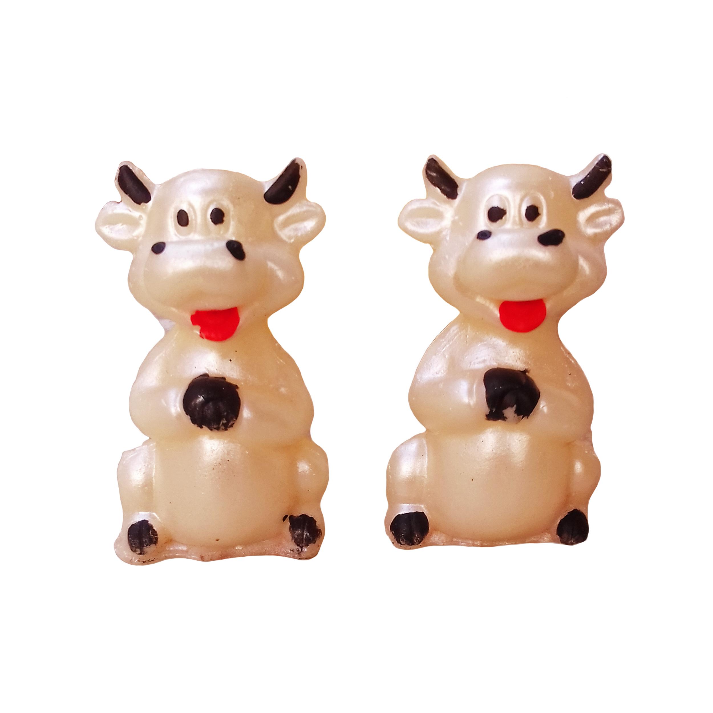 شمع مدل گاو بسته 2 عددی