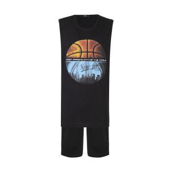 ست تی شرت و شلوارک ورزشی مردانه جامه پوش آرا مدل 4021019321-99