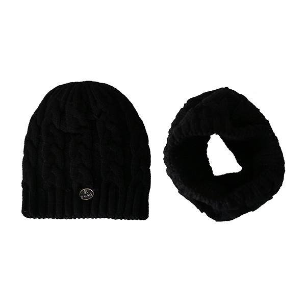 ست کلاه و شال گردن بافتنی کد A468