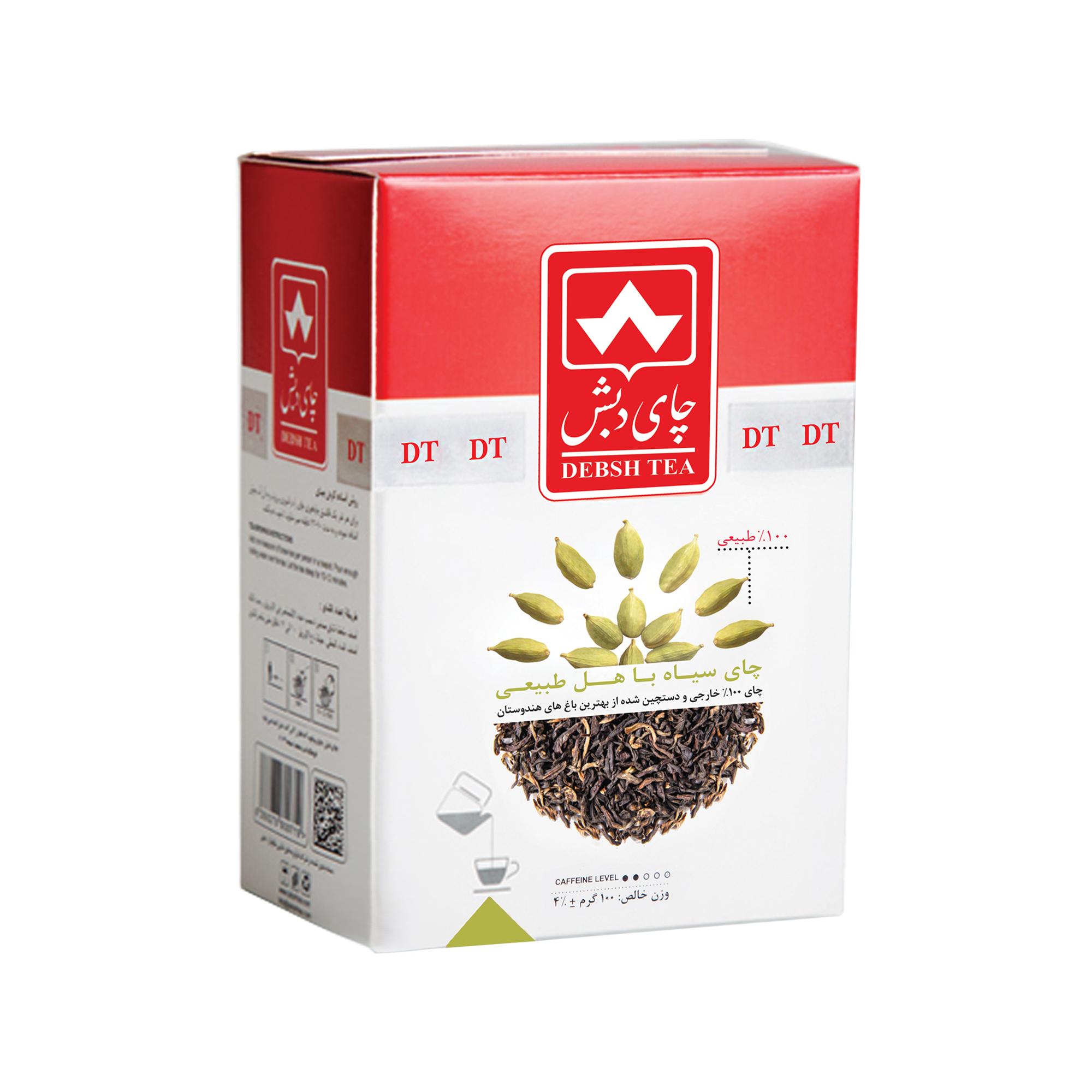 چای سیاه با هل  چای دبش - 100 گرم