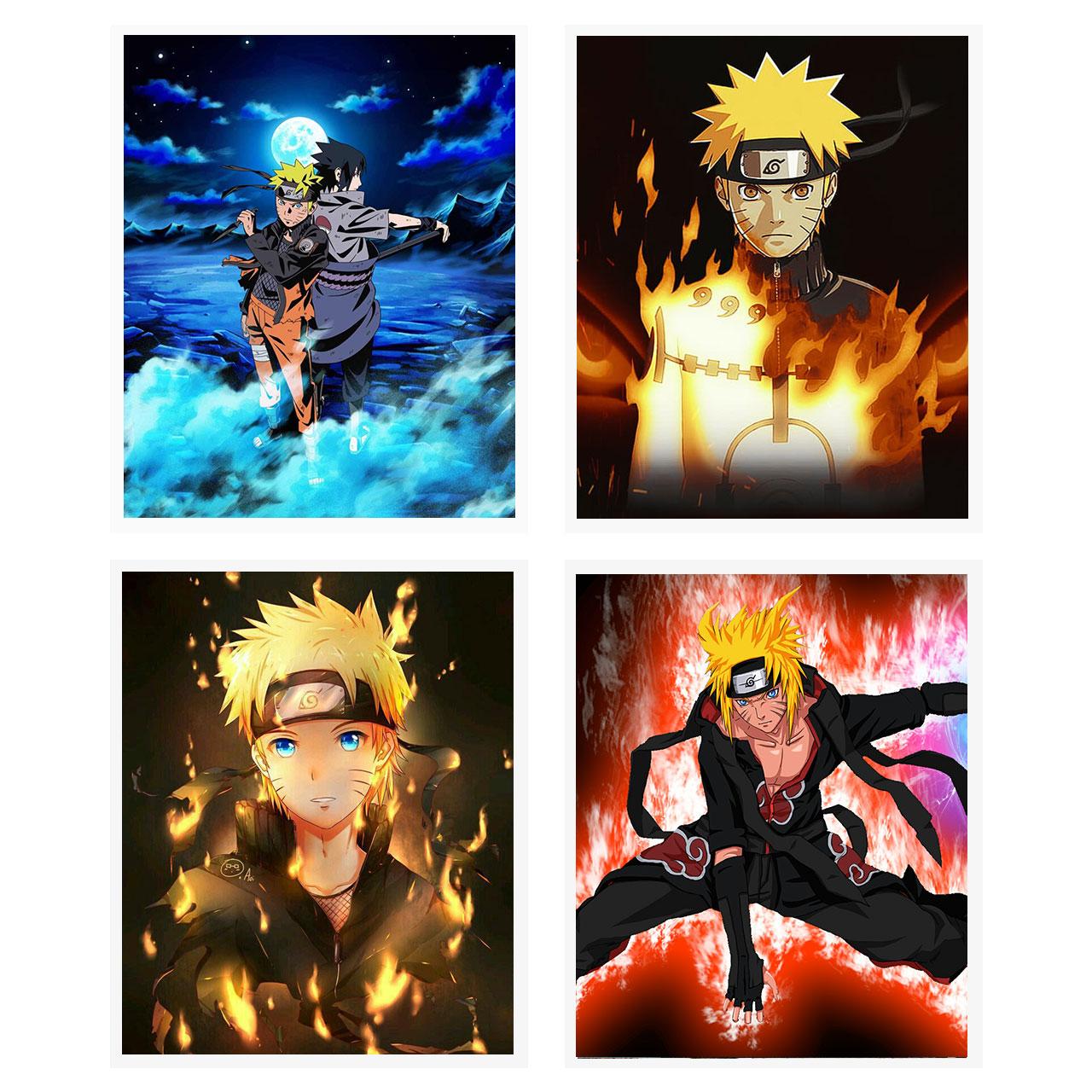 آویز تزیینی طرح انیمه ناروتو مدل Naruto1 مجموعه 4 عددی