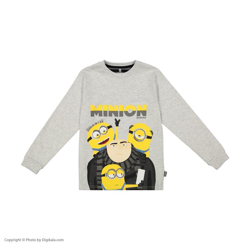 ست تی شرت و شلوار پسرانه بانی نو مدل 2191136-91