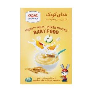غذای کودک گندمین با شیر و مخلوط میوه غنچه - 250 گرم