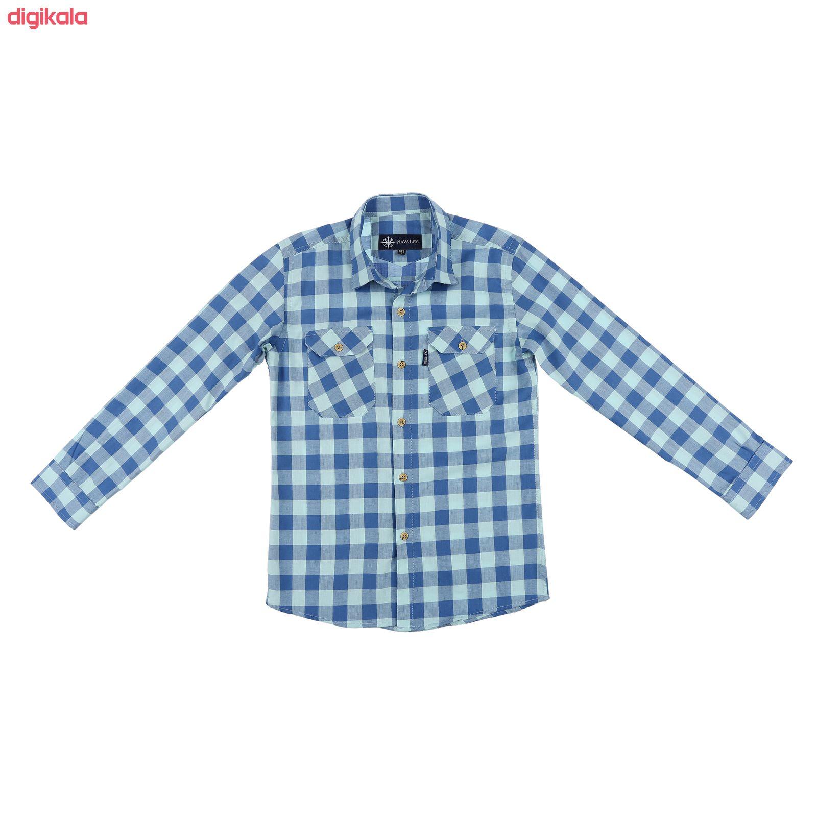 پیراهن پسرانه ناوالس کد D-20119-BL main 1 1