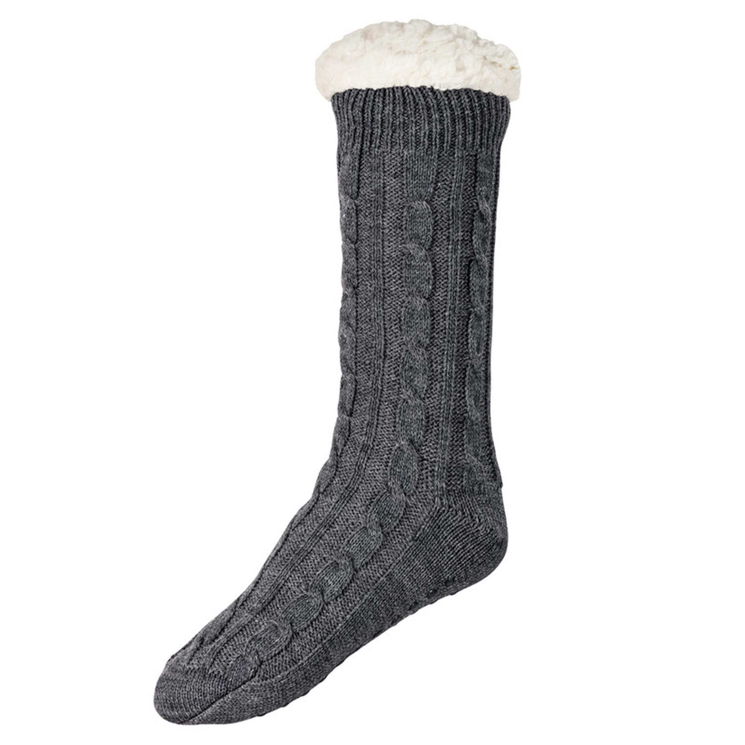جوراب بافتنی مردانه لیورجی مدل Fleece2021 رنگ طوسی