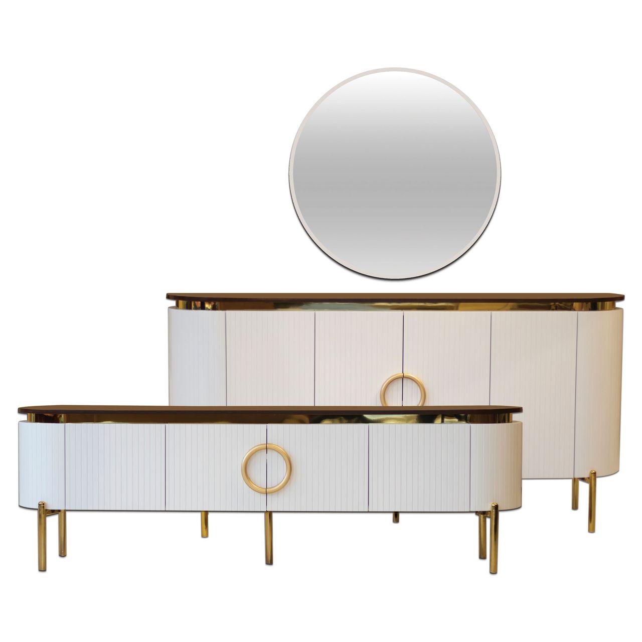 آینه و کنسول مدل آرتا به همراه میز تلویزیون