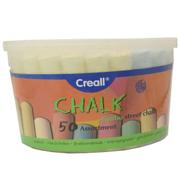 گچ رنگی کریل مدل Chalk بسته 50 عددی