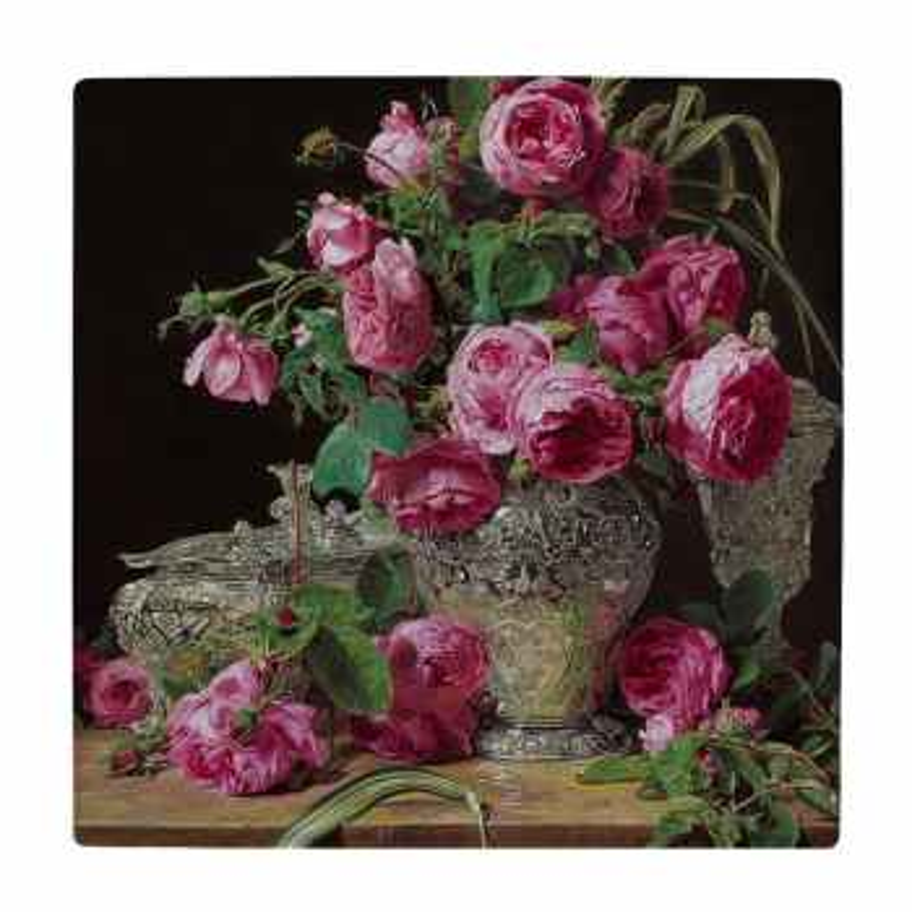 کاشی طرح نقاشی گلدان گل کد wk613