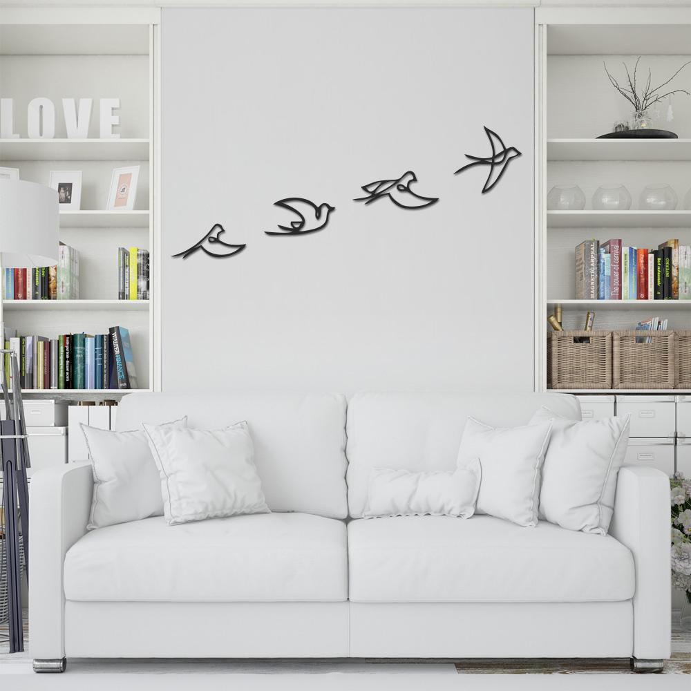 استیکر چوبی طرح پرنده مجموعه ۴ عددی