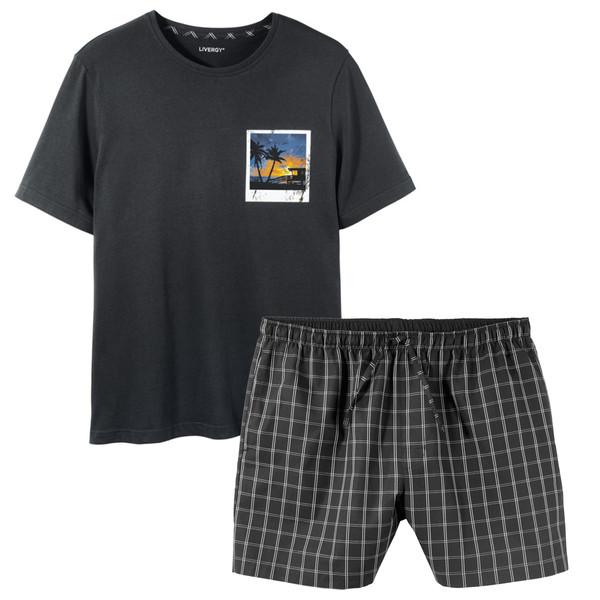 ست تی شرت و شلوارک مردانه لیورجی مدل Sunset