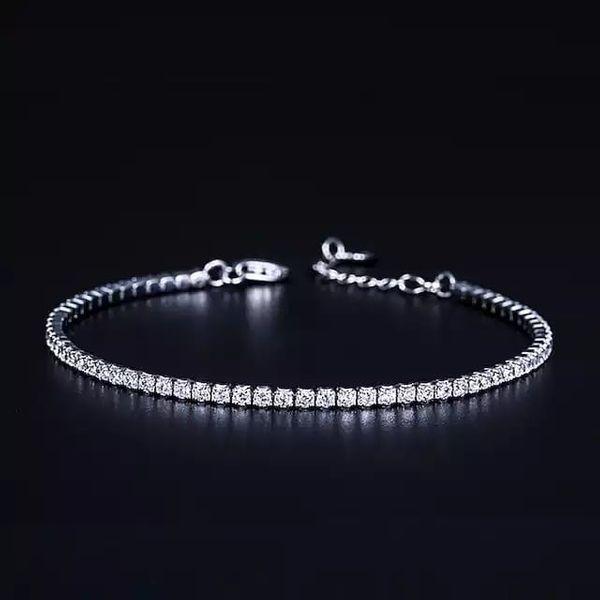 دستبند نقره زنانه مدلتنیسی