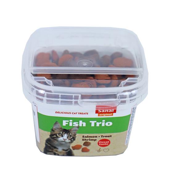تشویقی گربه سانال مدل fish_trio وزن 75 گرم