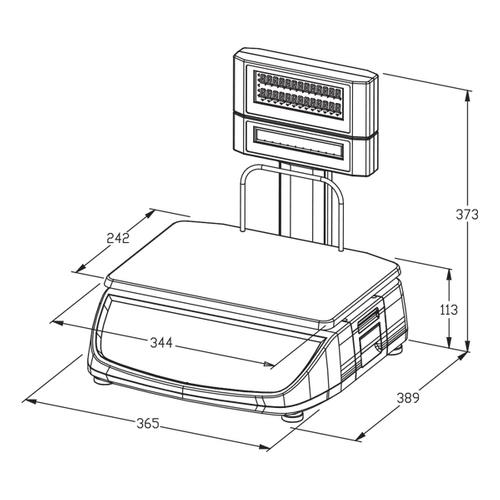 ترازوی فروشگاهی دیجی مدل RM-60