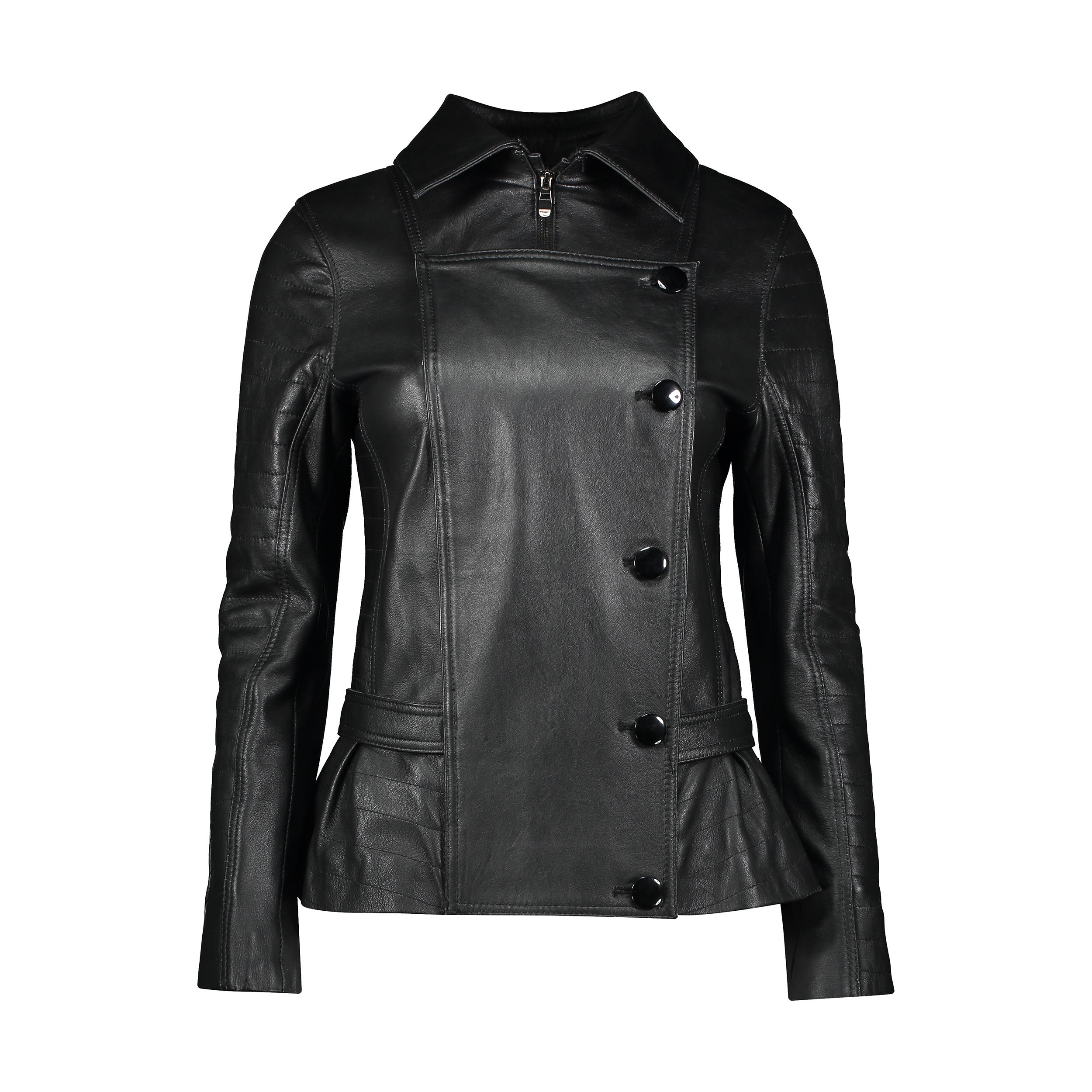 کت چرم زنانه شیفر مدل 2707S-01