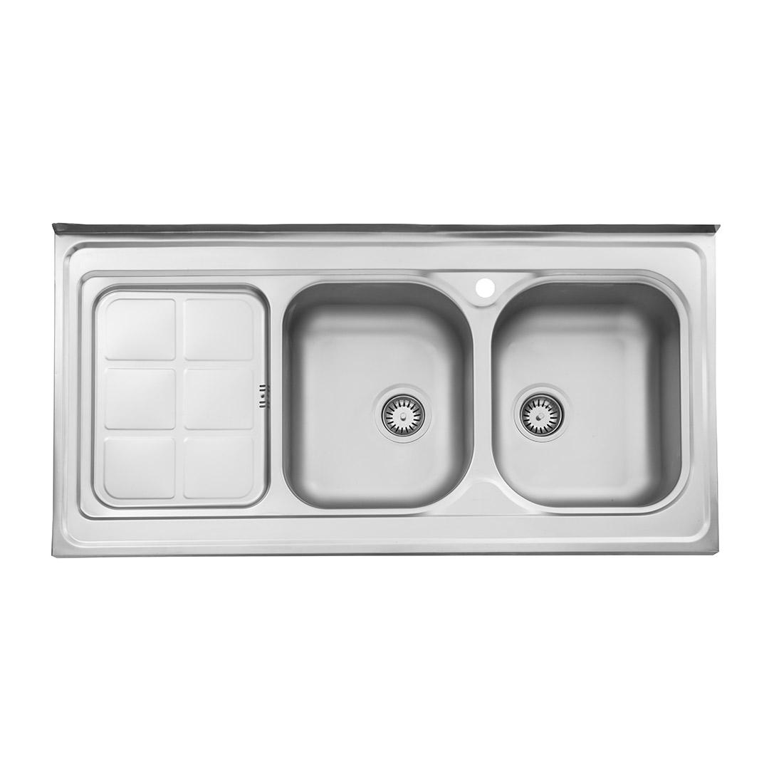 سینک ظرفشویی استیل البرز مدل 215 روکار