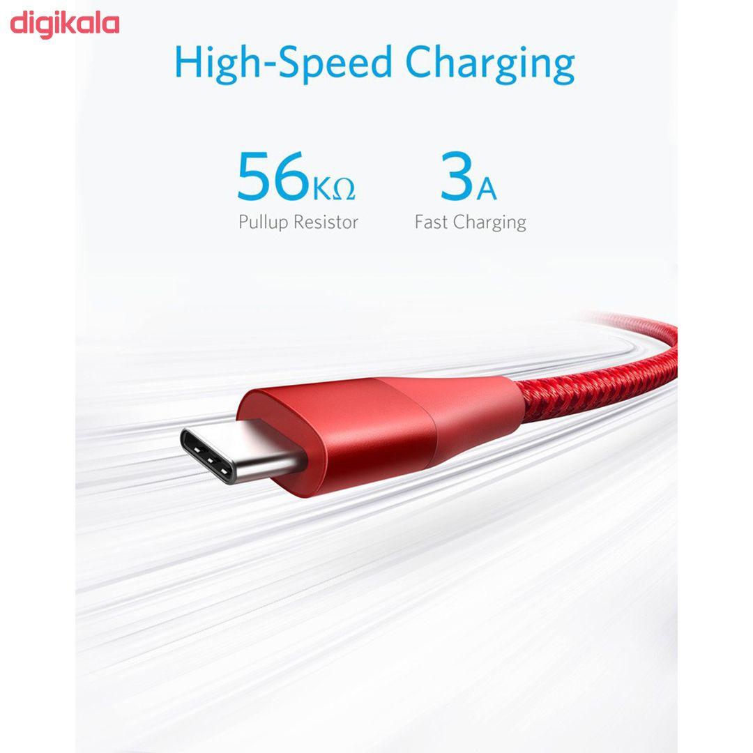 کابل تبدیل USB به USB-C انکر مدل PowerLine Plus II طول 0.9 متر main 1 16