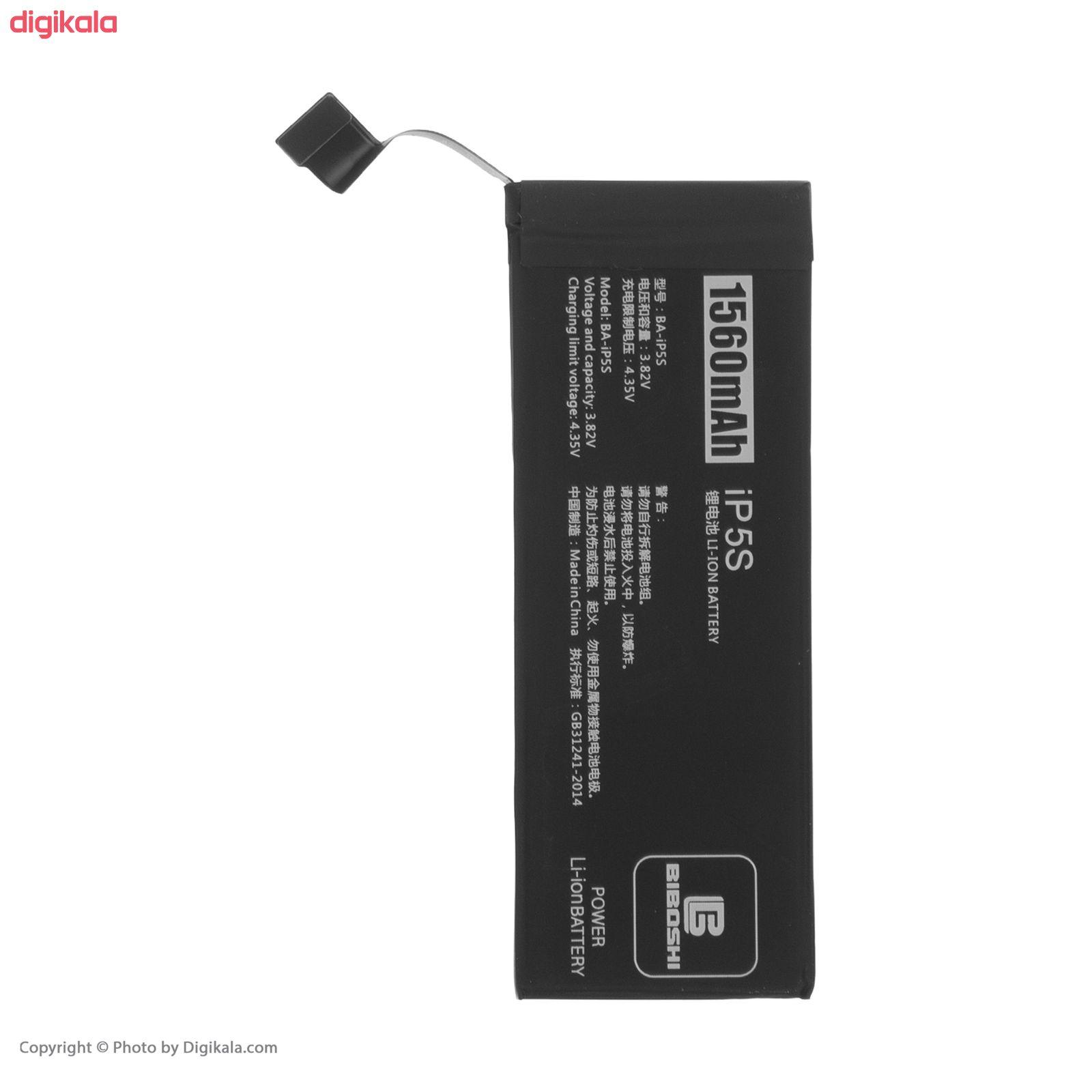 باتری موبایل بیبوشی مدل BA-iPS5 ظرفیت 1560 میلی آمپر ساعت مناسب برای گوشی موبایل اپل iPhone 5S main 1 2