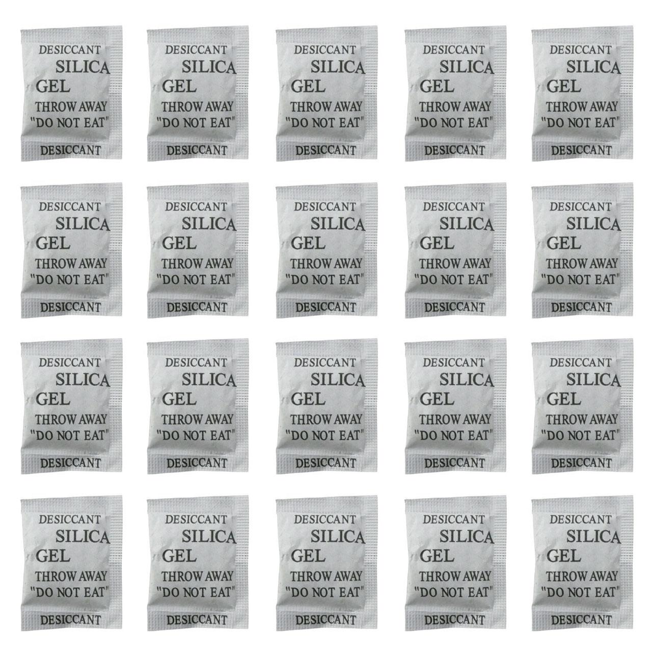 رطوبت گیر سیلیکا ژل مدل RH2 وزن 1 گرم بسته 20 عددی