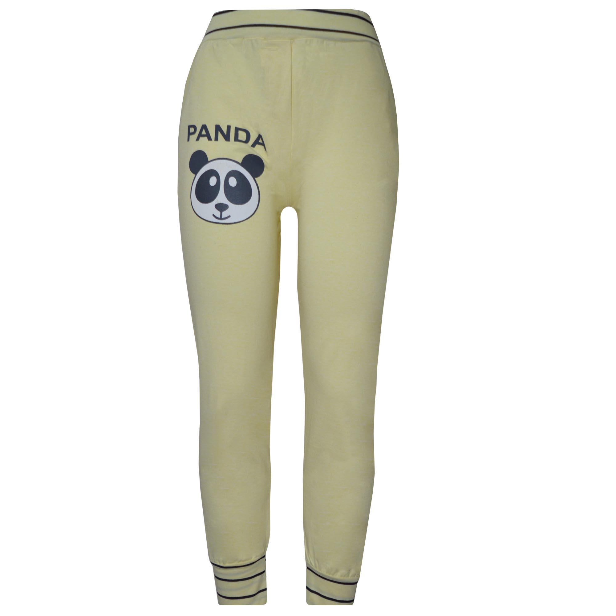 خرید                                      شلوار زنانه طرح پاندا کد 1005 رنگ زرد
