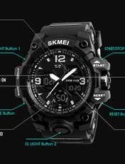 ساعت مچی عقربه ای مردانه اسکمی مدل 1155M-NP -  - 7