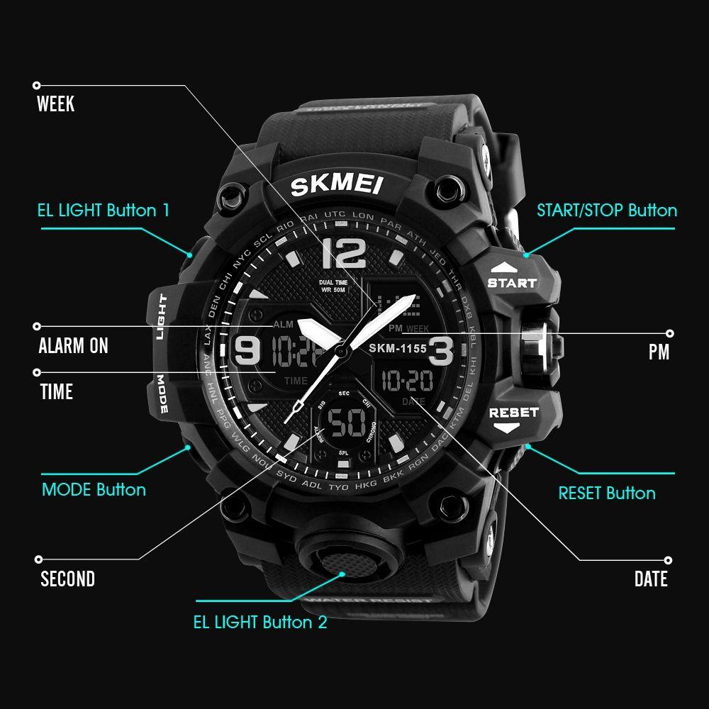 ساعت مچی عقربه ای مردانه اسکمی مدل 1155M-NP -  - 8